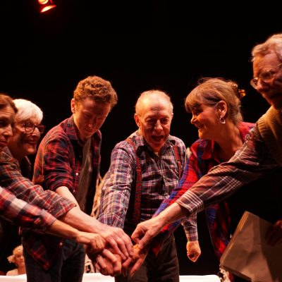 A Midwinter Night's Dream (2014). Rena Godfrey, Jeanette Cairns, Max Ackerman, Doug Crocker, Margaret Sellers, Roger Beck. Photo by Sam Godfrey.