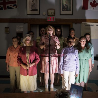 Dr. Silver, Pop-Up Experience (2016). Barbara Johnston, Rielle Braid and the Ensemble. Photo by Neil Silcox.