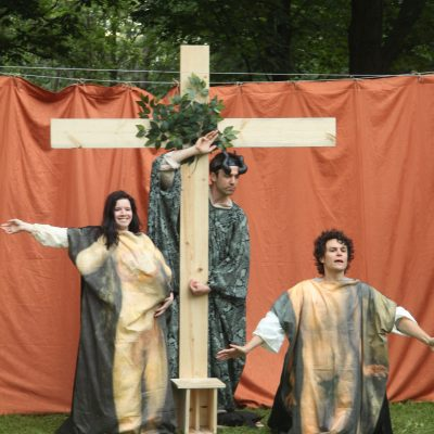 Passion Play (2013). Amy Keating, Cyrus Lane, Andrew Kushnir. Photo by Keith Barker.