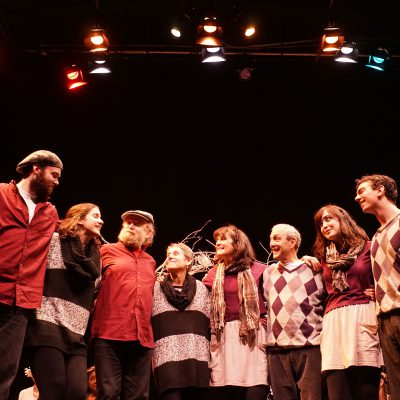 A Midwinter Night's Dream (2014). Jesse Watts, Gigi Inara, Neil Naft, Ruth Miller, Pamela Paris, Peter Sevitt, Hilary Roskey, Chris Mastropietro. Photo by Sam Godfrey.
