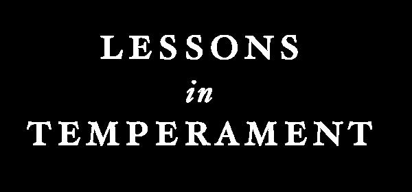 lessons in temperament title