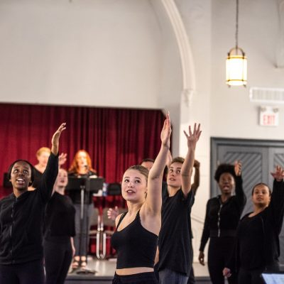 Wexford Collegiate ensemble. Dr. Silver Live Rehearsal Series at The Luminato Festival June 2018. Photo by Dahlia Katz.