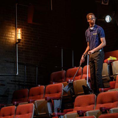 Durae McFarlane. Photo by Dahlia Katz. Set and Lighting by Nick Blais. Costumes by Anahita Dehbonehie.