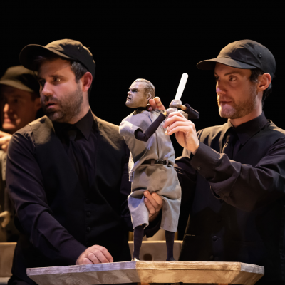 The Golem's Mighty Swing World Premiere with the Winnipeg Jewish Theatre (2019). Photo by Bo Dyck.