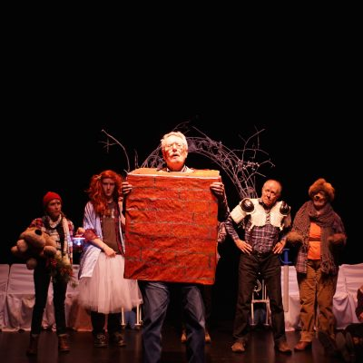 A Midwinter Night's Dream (2014). Roger Beck and the Mechanicals. Photo by Sam Godfrey.